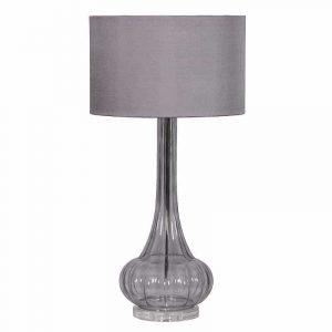 Smoked Glass Based Table Lamp