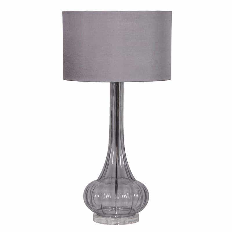 Smoked Glass Based Table Lamp