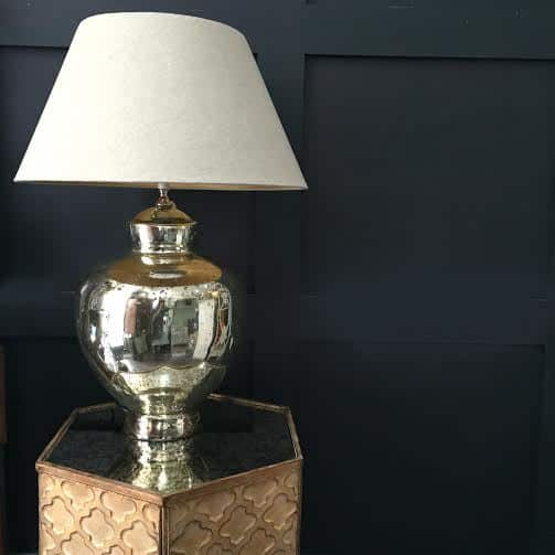 Silver Based Table Lamp