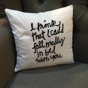 'Fall Madly' Mini Cushion