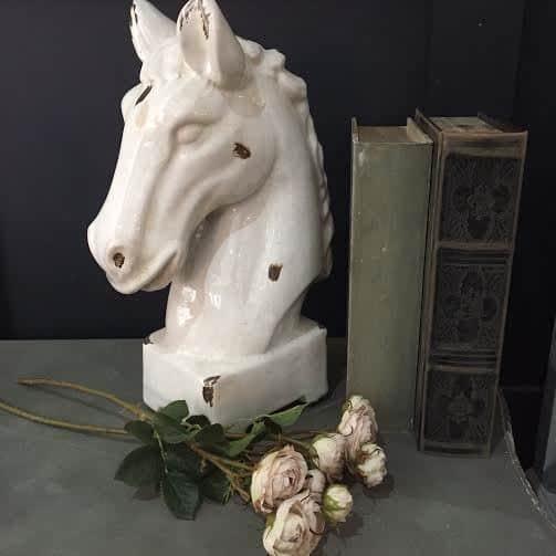 Ceramic Horse Bust