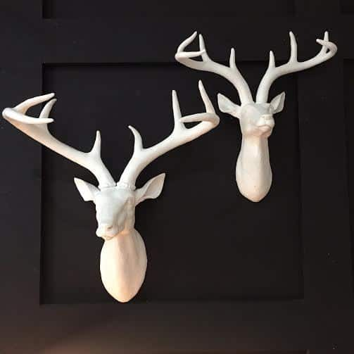 Large White Stag Head
