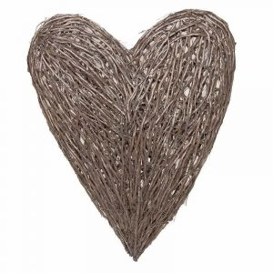 Extra Large Grey Wicker Heart