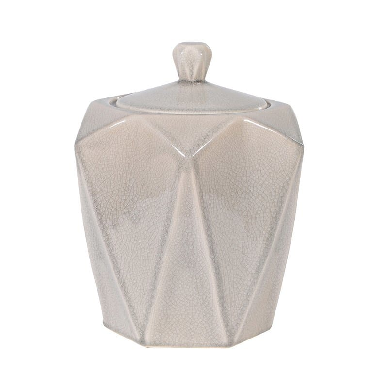 Large Neutral Hexagonal Storage Jar