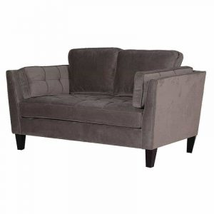 Mushroom High Back 2 Seater Sofa