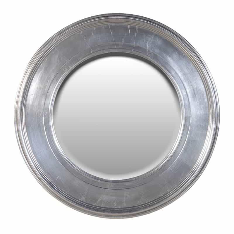 Large Silver Circle Mirror
