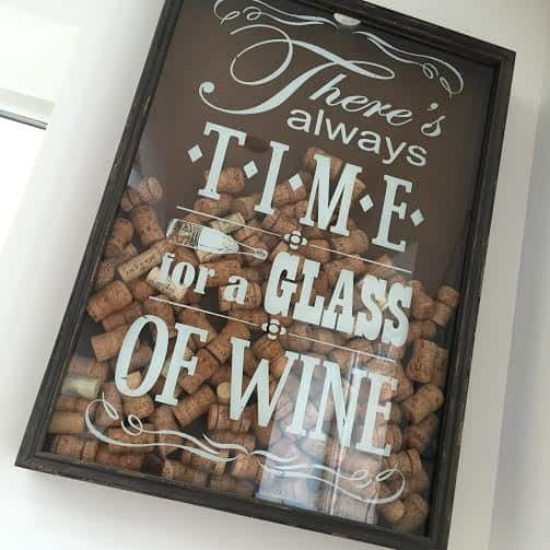 Time For Wine Cork Frame Gloss Interiors