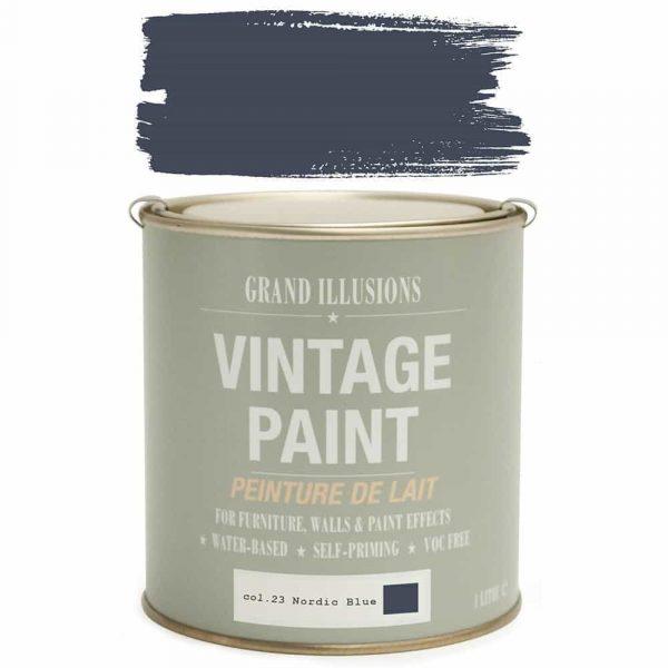 Vintage Paint 23 NORDIC BLUE 1 Litre