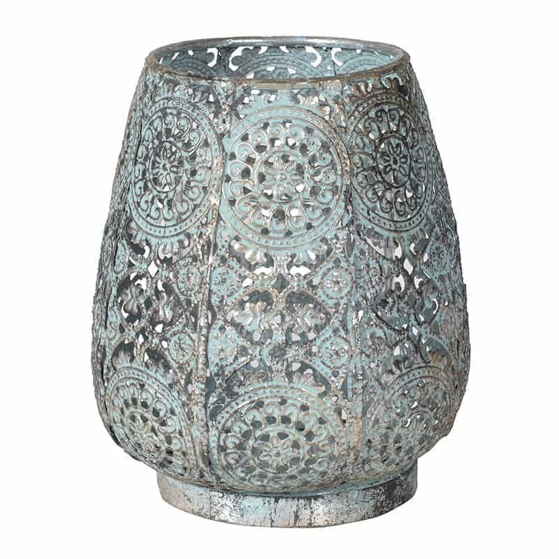 Moroccan Style Blue & Gold Candle Holder