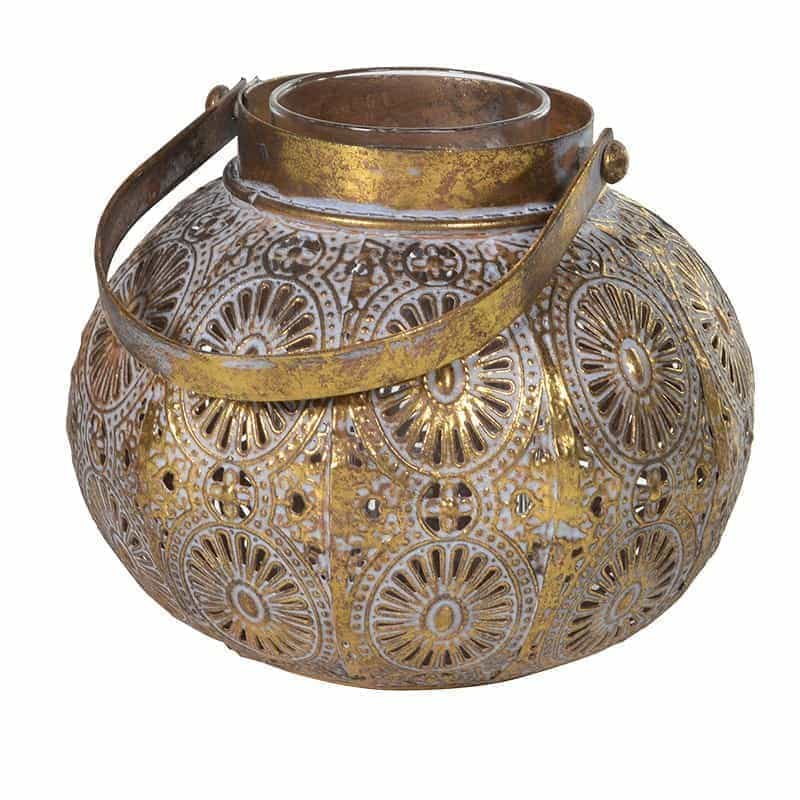 Moroccan Style Gold Candle Lantern