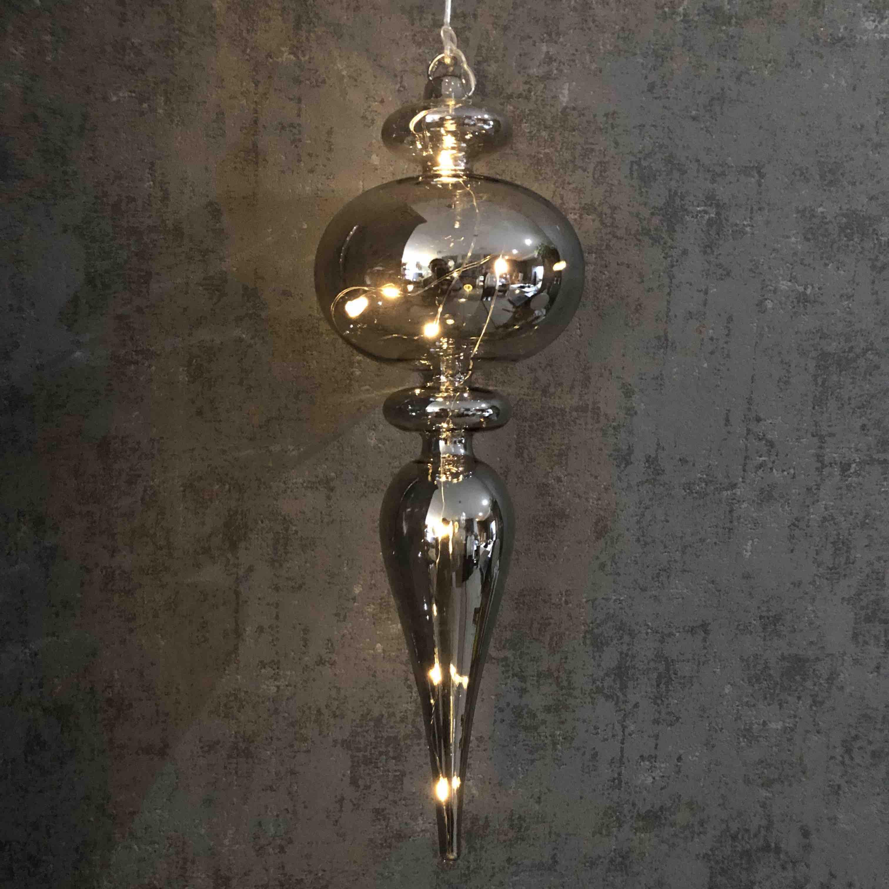 Glass Light Up Decoration