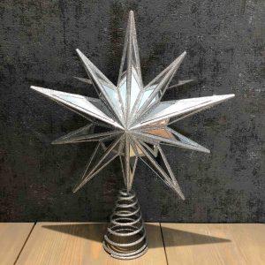 Silver Sparkle Tree Topper
