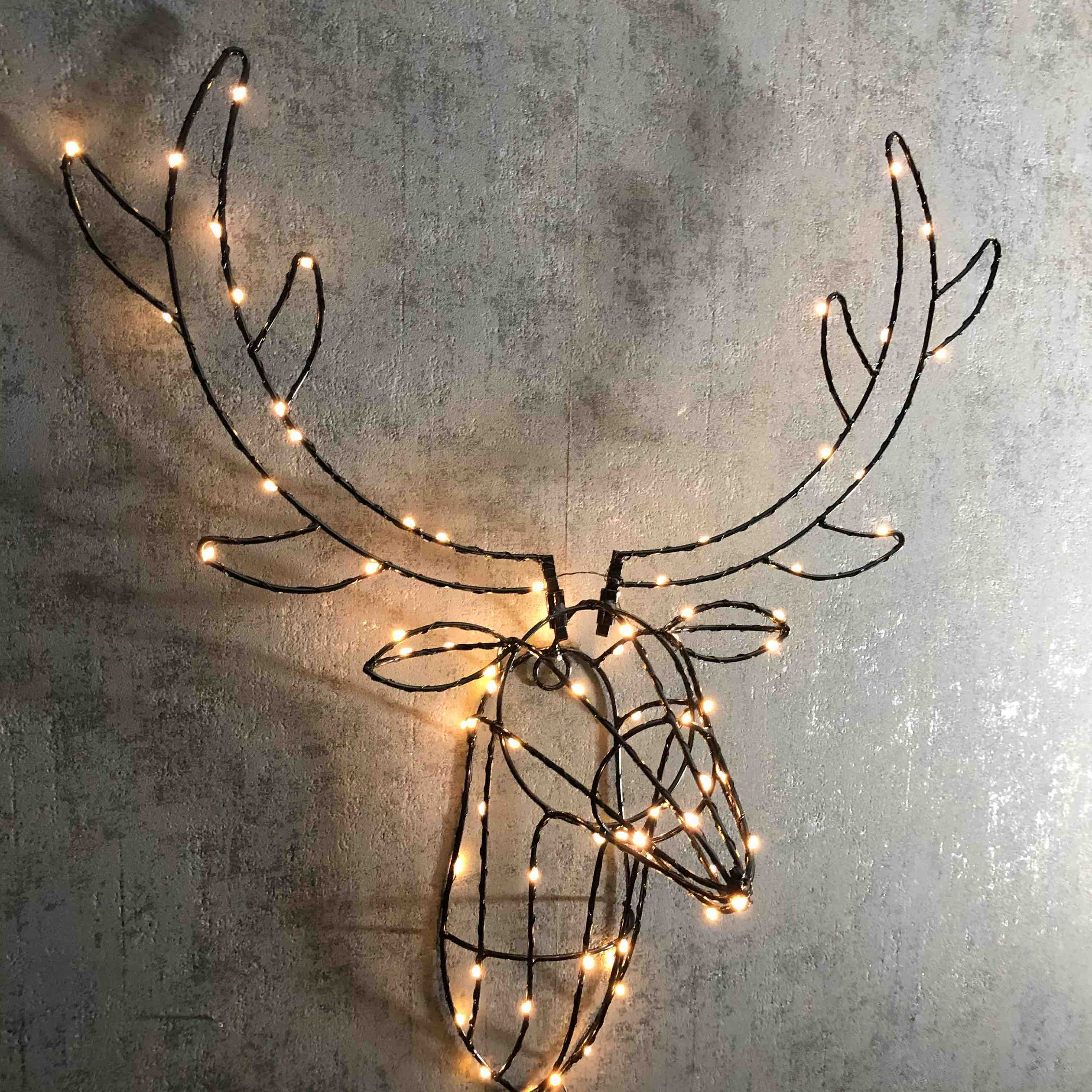 Light Up Stag Head